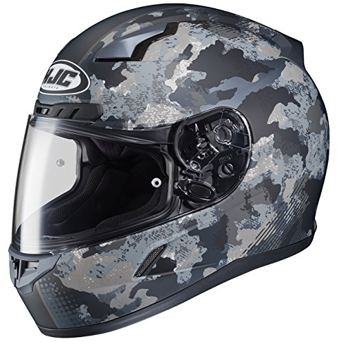isex-Adult Full Face Void Street Motorcycle Helmet (Grey/Black, Medium) ()