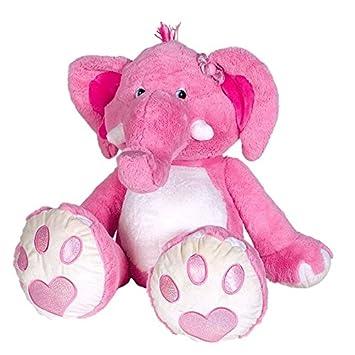 peluche geante elephant rose
