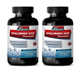 Joint Support with hyaluronic Acid - HYALURONIC Acid BIO-Available - Skin Hydration Support - hyaluronic Acid for Joints Skin & Eyes - 2 Bottles 120 Capsules