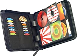 Case Logic KSW-128T Koskin 136 Capacity CD/DVD Wallet (Black)