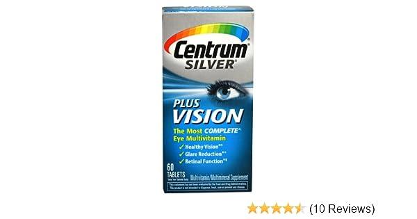 Amazon.com: Centrum Silver Plus Vision, 60 Tablets: Health & Personal Care