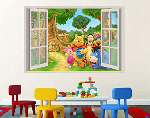 Winnie the Pooh piglet tigger 3D Window View Decal Graphic WALL STICKER Art Mural 18