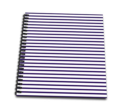 3dRose 3D Rose Navy Blue and White Sailor aka French Nautical Breton Stripe Pattern-Drawing Book, 8 by 8-inch (db_56665_1), 8