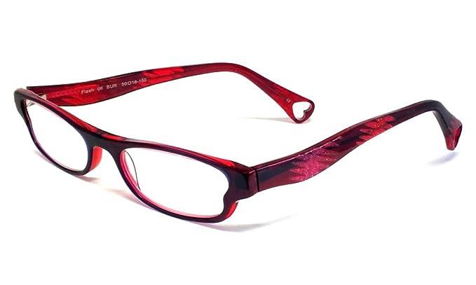 ee584836467cb Betsey Johnson Flash Designer Reading Glasses in Burgundy   +1.50