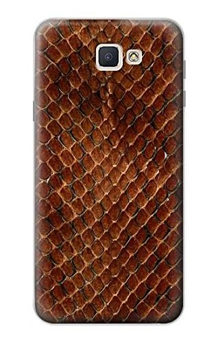 Snake Graphic - R0555 Snake Skin Graphic Printed Case Cover For Samsung Galaxy J7 Prime (SM-G610F)
