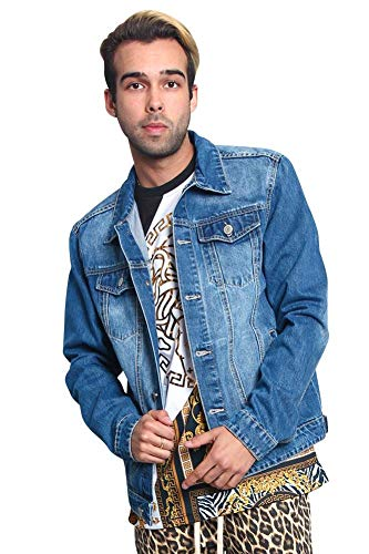 Victorious Non-Distressed Essential Denim Jacket DK148 - Indigo - 2X-Large - - Essential Blue Jackets