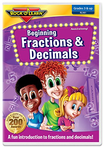 Beginning Fractions & Decimals DVD by Rock 'N Learn -