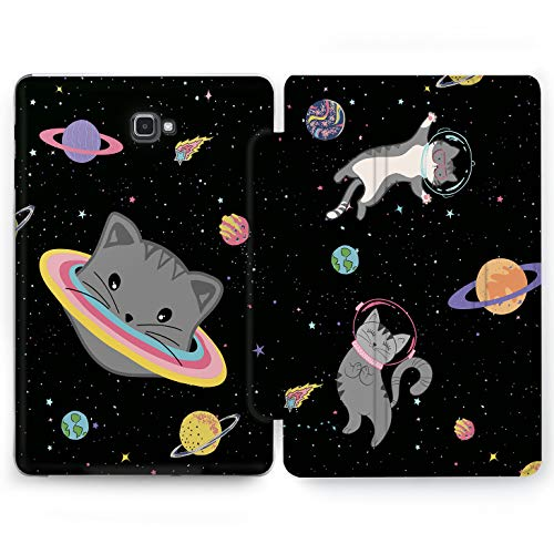 (Wonder Wild Space Cat Samsung Galaxy Tab S4 S2 S3 Smart Stand Case 2015 2016 2017 2018 Tablet Cover 8 9.6 9.7 10 10.1 10.5 Inch Clear Design Galaxy Kitten)