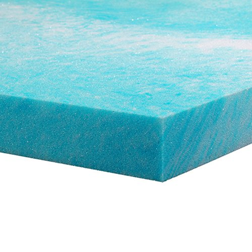 Gel Memory Foam Topper, Twin Size 2 Inch Thick, Gel-Infused Memory Foam Mattress/Bed Topper for Cooling, Conforming and Comfort.