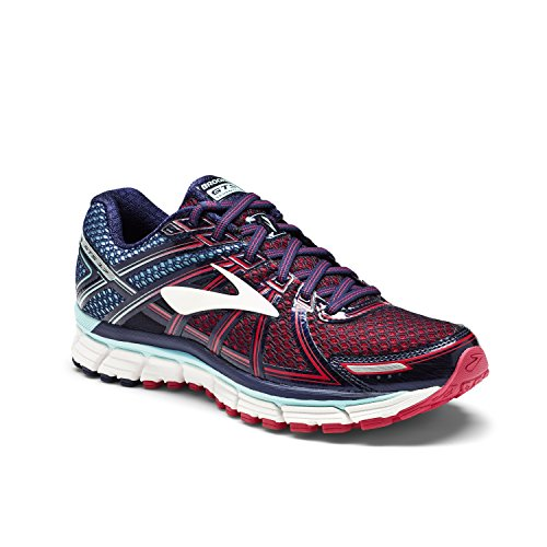 Brooks Adrenaline Gts 17, Zapatos para Correr para Mujer Azul (Limpet Shell/evening Blue/virtual Pink)