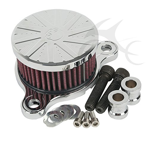 TCMT Chrome Spike Air Cleaner Intake Filter Kits For Harley Sportster XL 883 1200 2004 2005 2006 2007 2008 2009 2010 20112 2012 2013 2014 2015 2016
