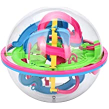 E-SCENERY Intellect 3D Perplexus Maze Ball Best Gift Independent Play for Children 7-15 Years Containing 32-118 Challenging Barriers Random Color (118 Barriers)