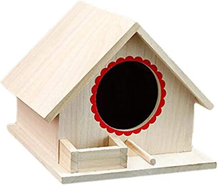ezizb mini classique nichoir pour oiseaux moineaux bird house a bois en bricolage bois non fini pret a peindre ou a decorer
