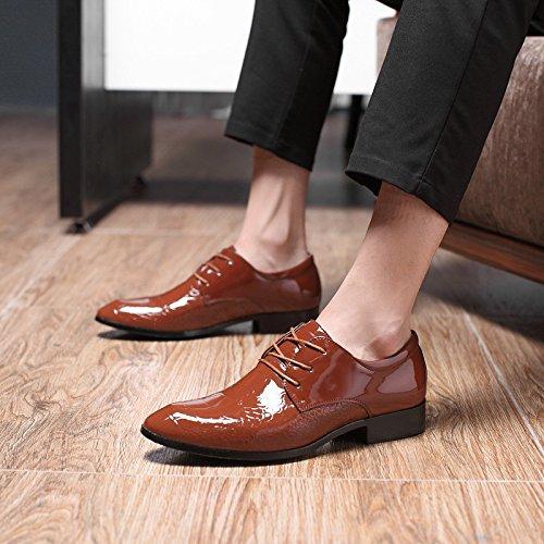 Pelle Giallo per Mocassini Pelle Affari Elegante Scarpe Pelle Scarpa Uomo Comfort Scarpa in Martin di Uomo Sintetica Style Piedi Vestito Punta Oxfords British Scarpa gxA6nxYwEq