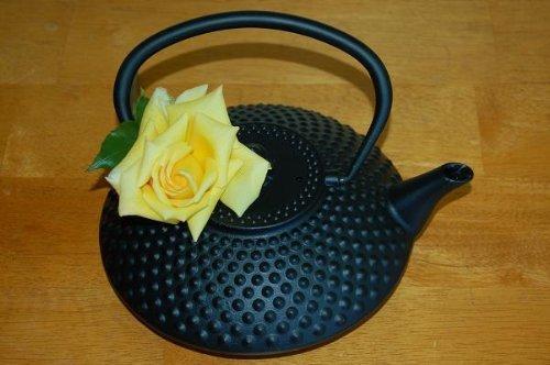 Japanese Cast Iron Teapot Tea Pot Mochi Black 42 oz by Tetsubin Teapots & Tea Sets