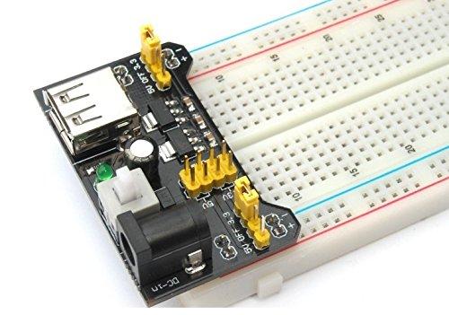 HALJIA MB102 Breadboard 3.3V 5V Power Supply Module 3.3V//5V For Arduino Board