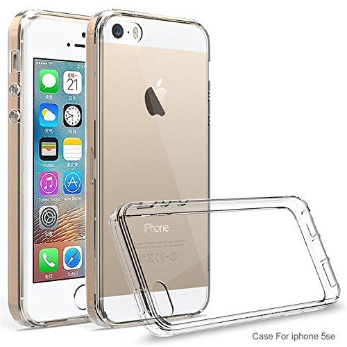VSHOP ® Coque iPhone 5/5s/SE, coque jolie élégante silicone transparent Soft Gel TPU pour iphone 5/5s/SE