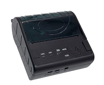 QIONGQIONG Portátil Mini 80Mm Térmica Recibo Impresora USB ...