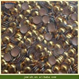Garment Rivet - 5mm 6mm 8mm 10mm Nailheads DIY Metal Korean Studs, Silver Gold Rivets Round hotfix Lead Free Studs for Apparel Sewing Fabric - (Color: Gold, Size: 5mm 100gross)