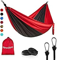 Newdora Hammock Double with Tree Straps, Lightweight Portable Nylon Parachute Double Hammock for Backpacking, Camping,...