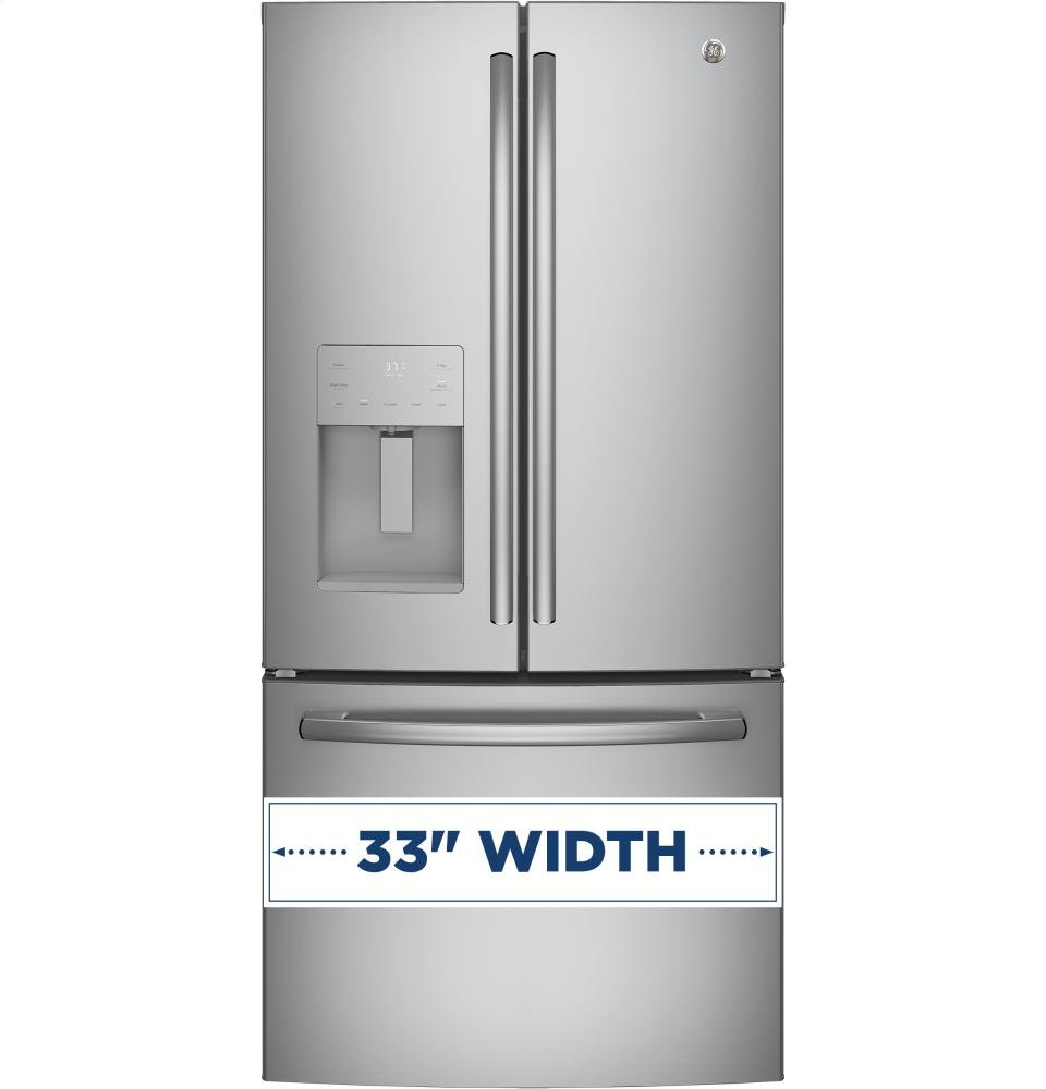 Amazon ge gfe24jskss 33 energy star qualified french door amazon ge gfe24jskss 33 energy star qualified french door refrigerator with 238 cu ft capacity in stainless steel appliances rubansaba