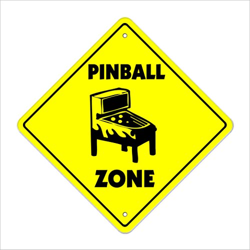 - Pinball Crossing Sign Zone Xing | Indoor/Outdoor | 12