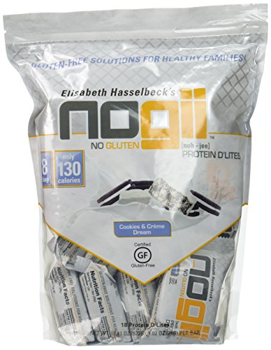 NoGii Protein D'Lites Cookies & Creme Dream 18 - 1.02 OZ Bars (Creme Cookies Protein Bar)