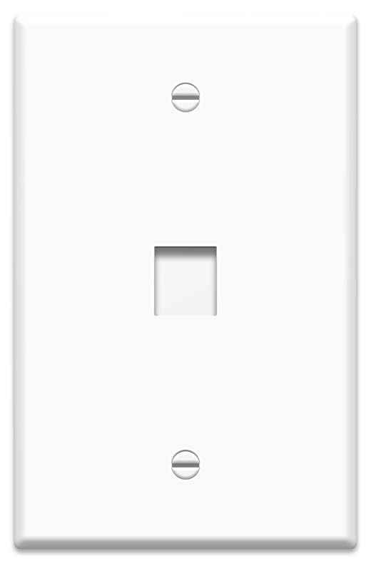 onq wp3301wh10 1 port contractor oversized wall plate pack of 10 white amazoncom