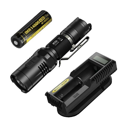 Nitecore MT10A Flashlight with UM10 Charger & IMR 14500 Battery