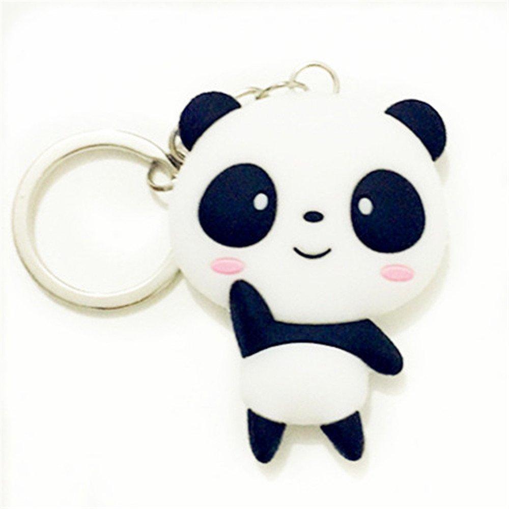 Reizteko Silicone Panda Cartoon Keychain Pendant