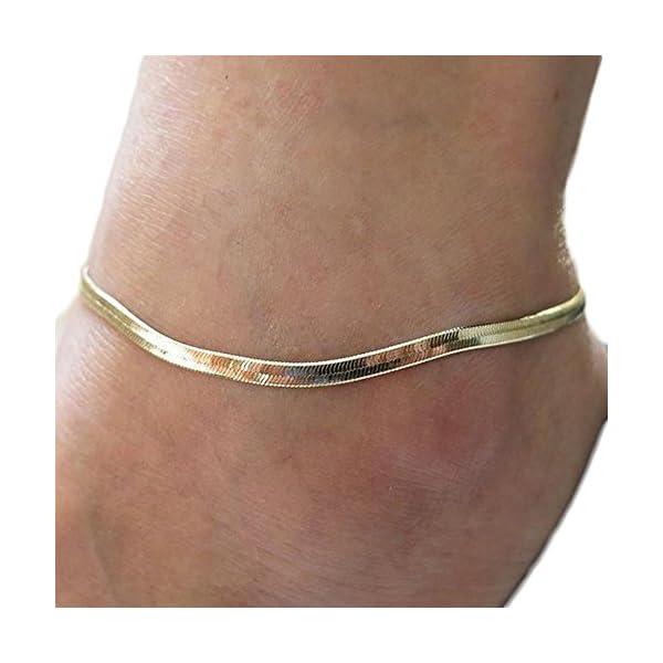 qinlee spiaggia cavigliera semplice stile piede gioielli bracciali spiaggia gioielli da donna ragazza Lässig gioielli… 1 spesavip
