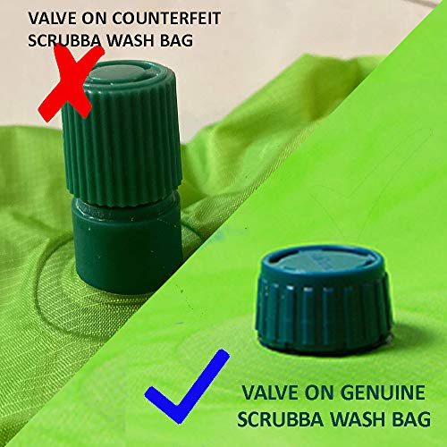 Light and Small Eco-friendly Hiking and Camping Essential Portable Clothes Washer for Hotel and Travel Washing Scrubba Wash Bag 2.0