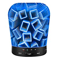 Sztrokia Aromatherapy Oil Diffuser, 180ml Essential Oil Diffusers Ultrasonic Cool Mist Humidifier, 3D Glass 24 Color Changing Starburst LED Lights, Waterless Auto Shut-Off for Home Office Baby by Sztrokia
