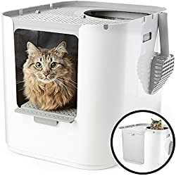 Modkat XL Litter Box, Top-Entry or Front-Entry Configurable, Looks Great, Reduces Litter Tracking