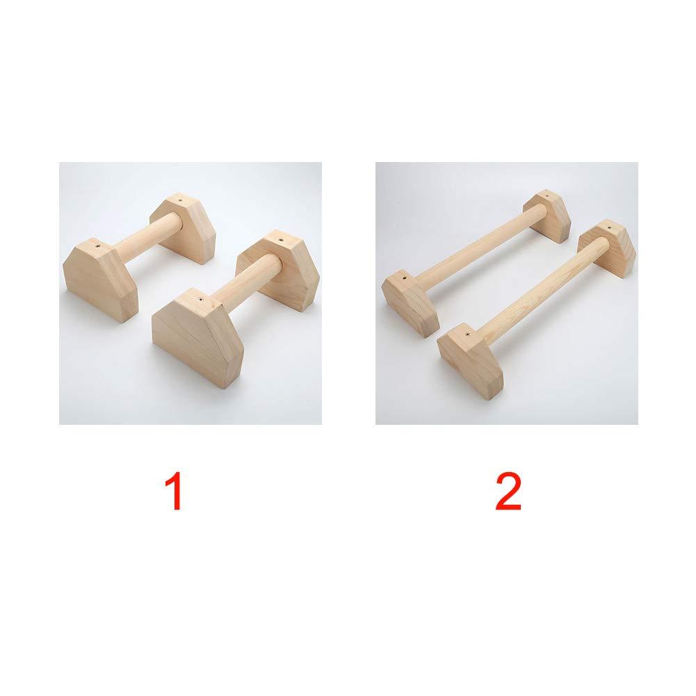 Barre de soutien 2 PCS Bois Parallettes Barre Dexercice T/ête Double Tige H En Forme De Formation Muscle Poitrine