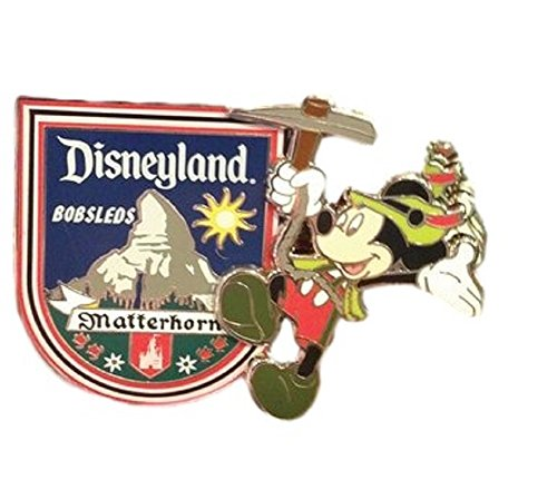 DISNEYLAND Matterhorn W/Mickey Mouse Trading Pin (Comes Sealed) - Disney Parks Exclusive & Limited Availability - BONUS Double Sided Mickey Stamp Included