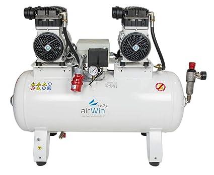 Airwin Silencioso unidad de aire comprimido Compresor sin aceite 1,1 + 1,1