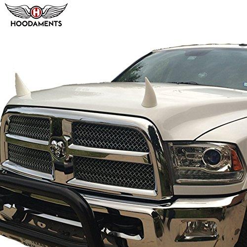 Bull Horns for Cars- White