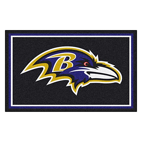 FANMATS NFL Baltimore Ravens Nylon Face 4X6 Plush Rug by Fanmats