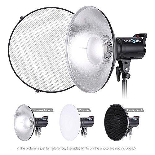 Andoer 41cm Beauty Dish Reflector Strobe Lighting Honeycomb for Bowens Mount Speedlite Photogrophy Light Studio Accessory