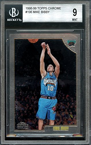 1998-99 topps chrome #196 MIKE BIBBY memphis grizzlies rookie BGS 9 (8.5 9 9 9) Graded Card