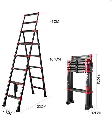 Escalera Plegable portátil compacta y portátil de 4 peldaños con escaleras Antideslizantes de 150 kg de Carga (Negro y Rojo): Amazon.es: Bricolaje y herramientas