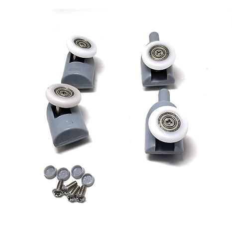 Rodamientos para mampara de ducha, 8 unidades, piezas de repuesto de 25 mm de diámetro: Amazon.es: Bricolaje y herramientas