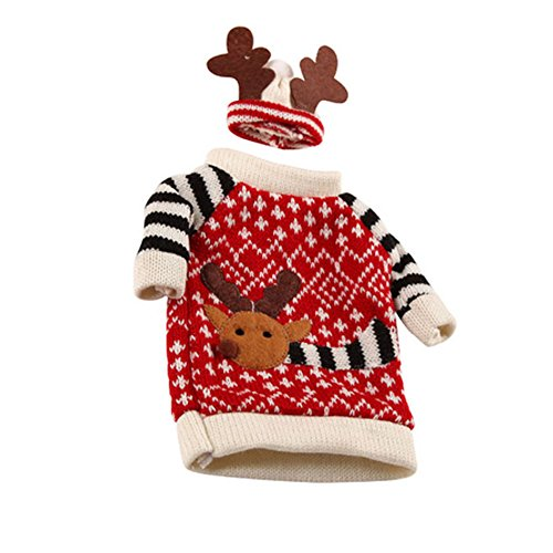Wine Hat Bottle Wine Cover Wine with Christmas Knit Bottle Holiday Wine Dress Decoration Sweater UEB Cover Bottle Topper Wrap TqIZRvwnz