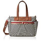 Babymel Cara Shoulder Bag Diaper Bag, Stripe Navy