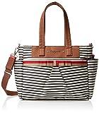 Babymel Cara Stripe Tote Bag, Navy Blue