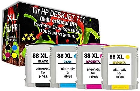 4X TINTEN PATRONE für HP 88XL OfficeJet Pro L7400 L7480 L7550 L7580 L7590 L7650