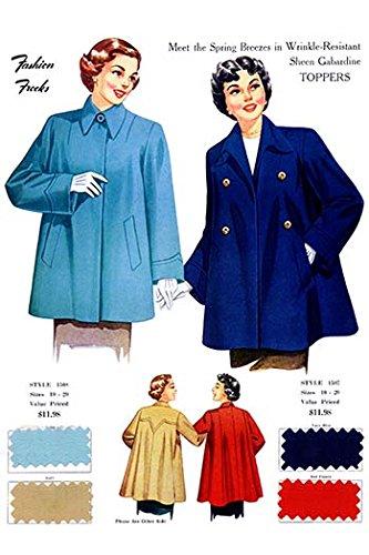 Fine Gabardine - Buyenlarge 0-587-21875-4-G1827 'Meet The Spring Breezes in Wrinkle Resistant Sheen Gabardine Toppers' Giclee Fine Art Print, 18