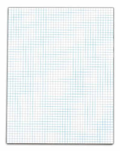 TOPS Quadrille Pad, Gum-Top, 8-1/2 x 11 Inches, Quad Rule (5 x 5), White Paper, 50 Sheets per Pad, 12 Pads per Pack (3315)