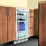 Summit SCR600BLSHWO Beverage Refrigeration, Glass/Black